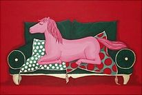Rot, Surreal, Gefühl, Pferde