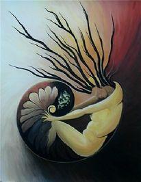 Malerei, Meer, Gefühl, Lebewesen