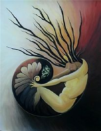 Surreal, Lebewesen, Nautilus, Frau