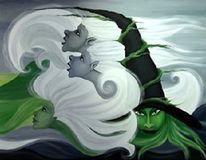 Surreal, Sturmflut, Wasser, Nordsee