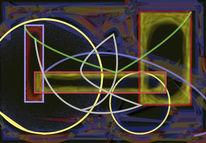 Digital, Malerei, Geometrie, Digitale kunst