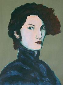 Realismus, Frau, Malerei, Figural