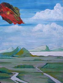 Surreal, Acrylmalerei, Malerei, Landschaft