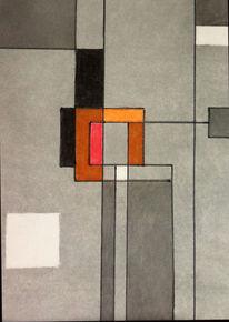 Mondrian, Kreide, Zeichnungen,