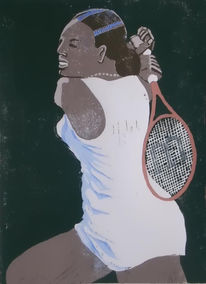 Sport, Tennis, Plakatkunst, Frau