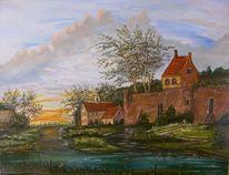 Himmel, Realismus, Landschaft, Häuser