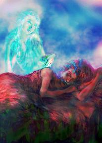 Traum, Geist, Illustration, Obacht