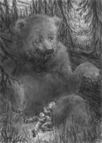 Grizzly, Digitale kunst,