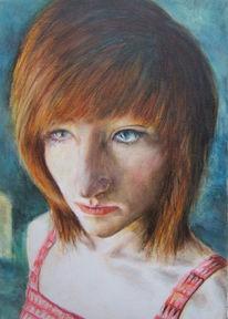 Portrait, Ball, Zeichnung, Disko