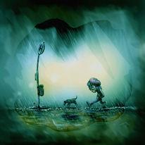 Regen, Zeichnung, Raus, Shmol