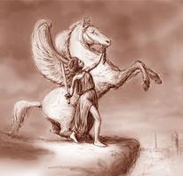 Pegasus, Abflug, Ankunft, Üben