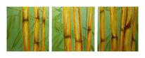 Figural, Malerei, Bambus, Triptychon
