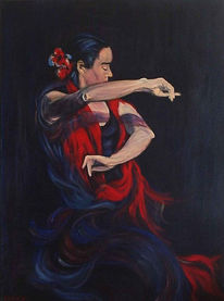 Malerei, Real, Figural, Flamenco