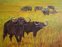 Malerei, Figural, Büffel