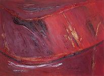 Abstrakt, Malerei, Rot