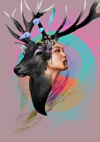 Abstrakt, Procreate, Illustration, Exemplar