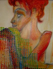 Nachdenklich, Frau, Parnasum, Ölmalerei