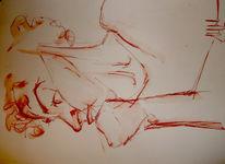 Frau, Skizze, Zeichnungen