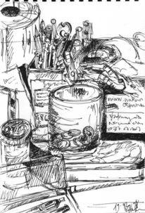 Essay, Zeichnen, Schreibtisch, Zeichnung