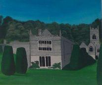 Schloss, Herrenhaus, Malerei, Landhaus