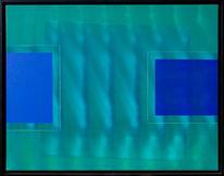 Blau, Geometrie, Grün, Welle