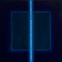 Blau, Raum, Licht, Abstrakt