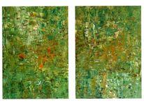 Abstrakt, Garten, Malerei, Kunstwelt