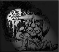 Schmerz, Zeichnung, Blind, Angst