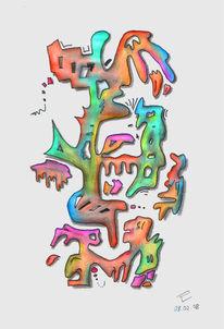 Zeichnungen, Abstrakt, Formen