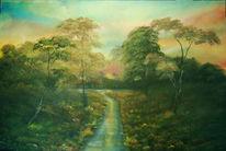 Wasser, Malerei, Fluss, Landschaft
