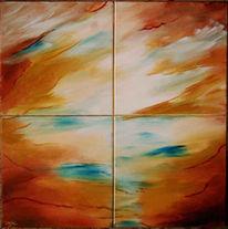 Horizont, Malerei, Meer, Weite