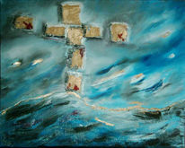 Geborgenheit, Malerei, Kreuzigung, Jesus