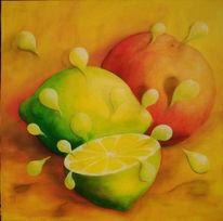 Malerei, Surreal, Obst, Früchte