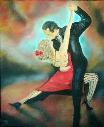 Malerei, Figural, Tanz, Tango