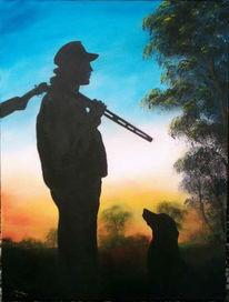 Jäger, Figural, Hund, Labrador