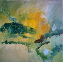 Malerei, Landschaft, Mai