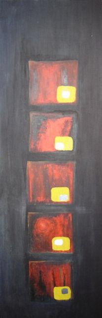 Quadrat, Malerei, Rot, Ölmalerei
