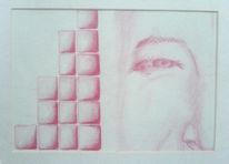 Glückseligkeit, Treppe, Zeichnungen, Portrait