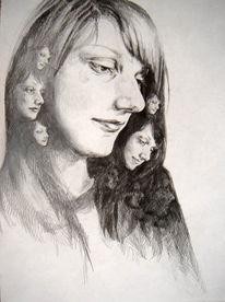 Bleistiftzeichnung, Schwarz weiß, Kontrast, Zeichnungen