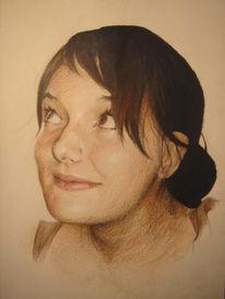 Buntstiftzeichnung, Portrait, Zeichnungen
