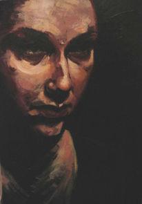 Schwarz, Selbstportrait, Stille, Portrait