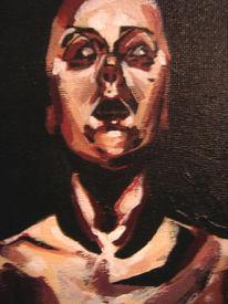 Gesicht, Schielen, Kontrast, Dunkel