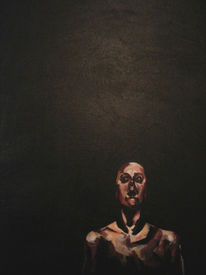 Kontrast, Mann, Schwarz, Malerei