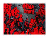 Soziophobie, Angst, Menschen, Malerei