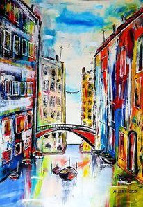 Italien, Venedig, Boot, Fischer