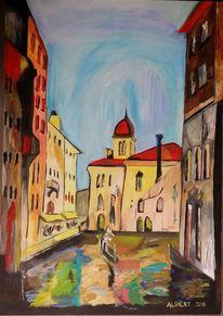 Abstrakt, Farben, Venedig 1, Malerei