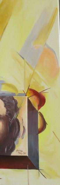 Abstrakt, Acrcyl, Teil, Malerei