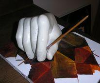 Skulptur, Figural, Plastik, Hand