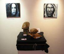 Ausstellung, Fotografie, Skulptur, Speckstein