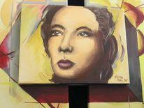 Malerei, Portrait, Gesicht, Frau
